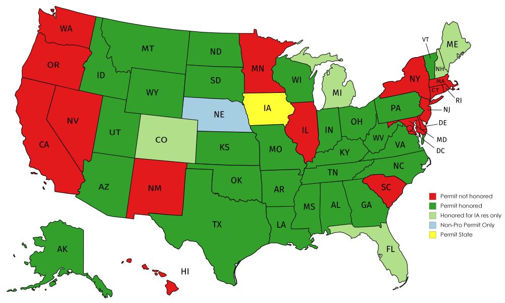 iowa ccw reciprocity map Iowa Gun Class Online Misccategory iowa ccw reciprocity map